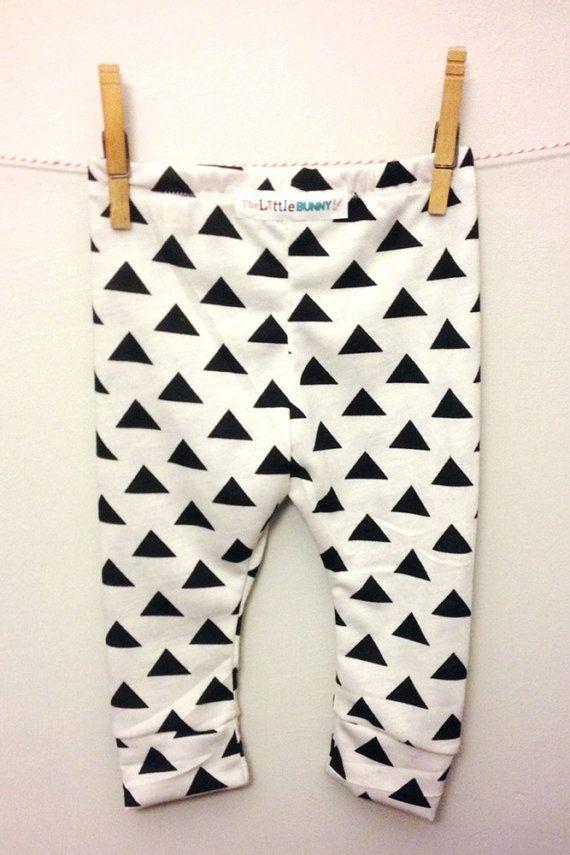 Baby leggings geometric triangle toddler door thelittlebunnystore, $14.00