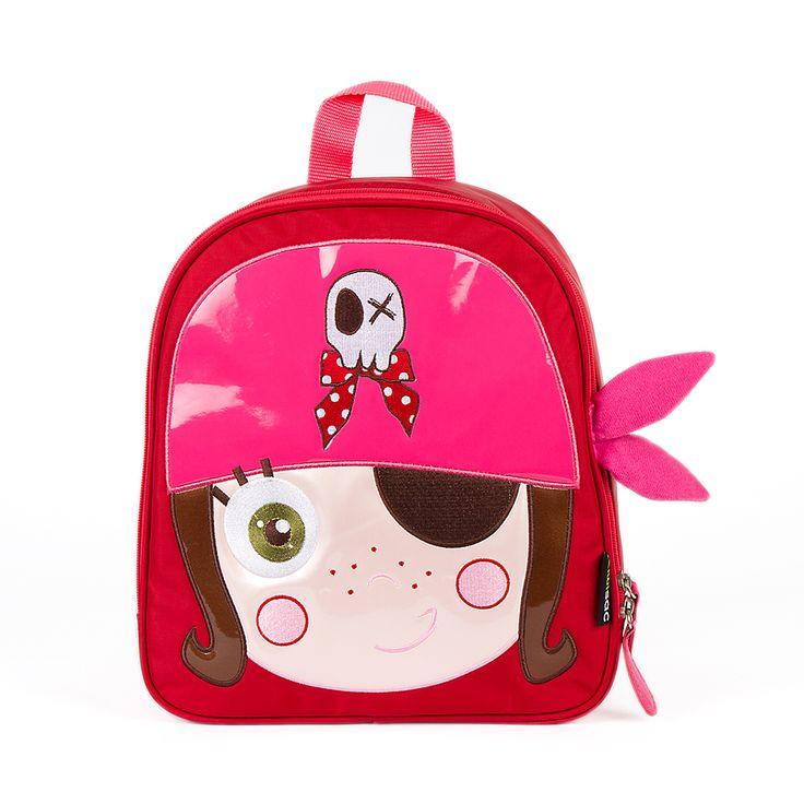 """Mochila The Pirates Girl Kid. Para la """"piratilla"""" de la casa, una mochila infantil, ideal para el cole. #mochilainfantil"""