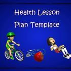 This item is a simple Health lesson plan template that includes a number of text boxes with headings and subheadings that correspond to Health planning and structural procedures.