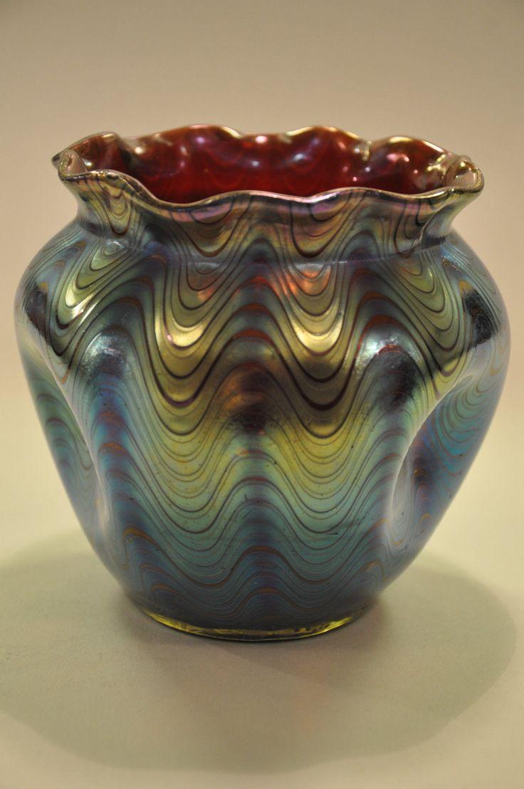 320 best secesn vzy images on pinterest iridescent art loetz vase klostermhle um 1900 ebay reviewsmspy