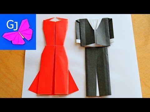 Вечернее платье и костюм оригами - YouTube