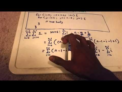 Time Complexity of Code Using Summations - YouTube