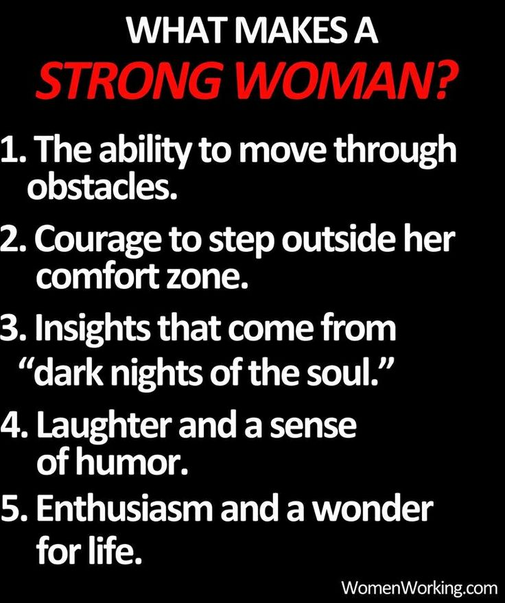 What Makes A Strong Woman