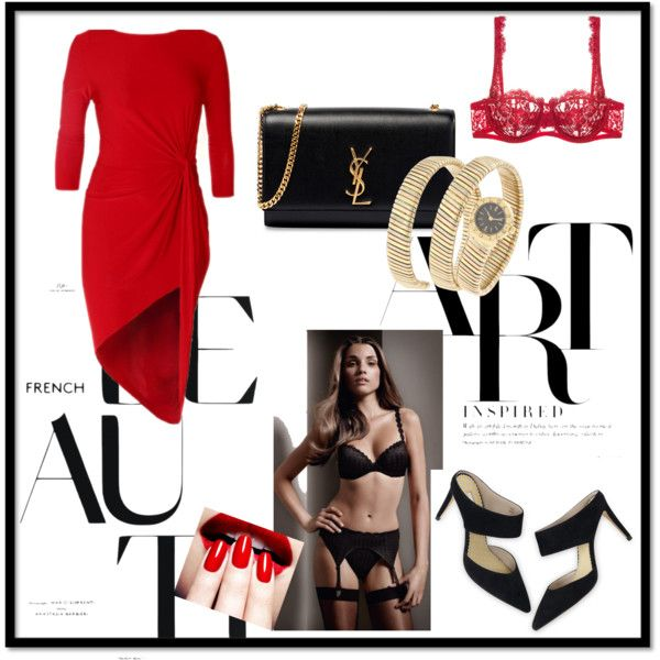 set by amaexclusive on Polyvore featuring moda, I.D. SARRIERI, Boden, Yves Saint Laurent, Bulgari and Marie Jo, marie jo lingerie, lingerie lace, lingerie.