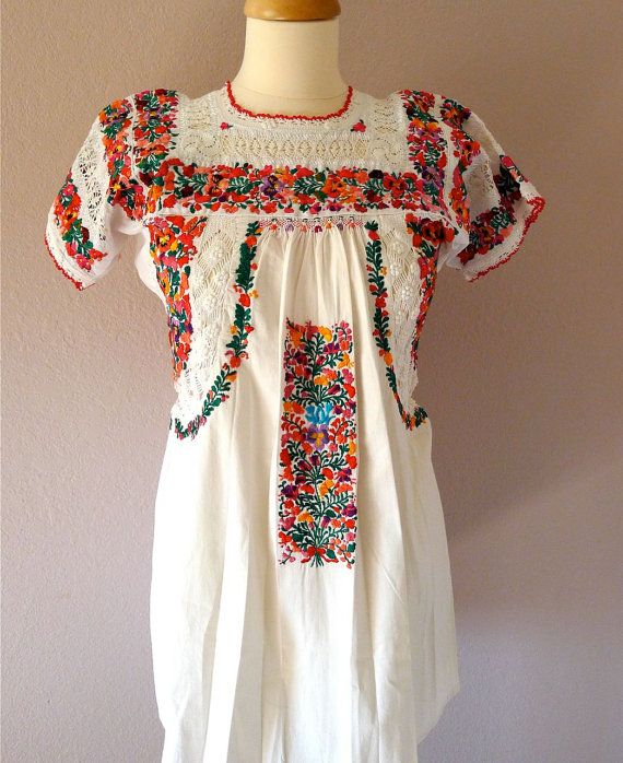SALE Mexican Wedding Dress Super Fino By LivingTextiles On