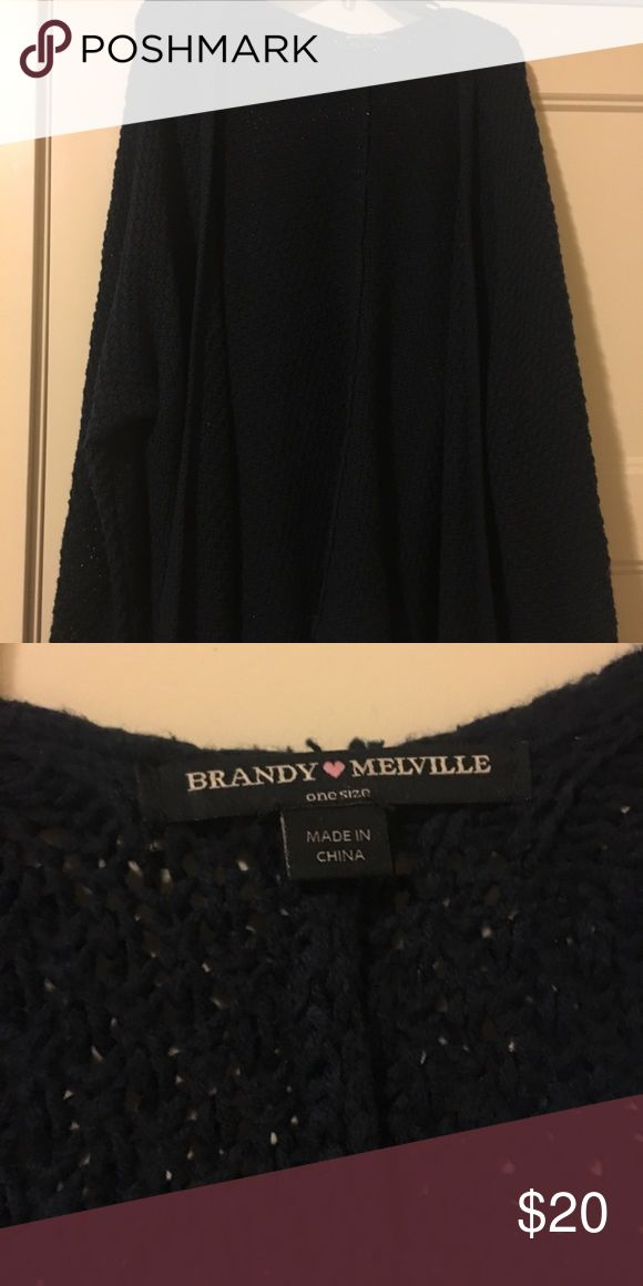 Brandy Melville cardigan This is a navy one size fits all knitted cardigan from Brandy Melville. Very cozy and comfortable. Brandy Melville Sweaters Cardigans