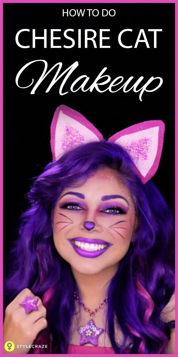This Post Helps You To Wear A Cheshire Cat Makeup Highlighting Its - Cheshire-cat-makeup-tutorial-you