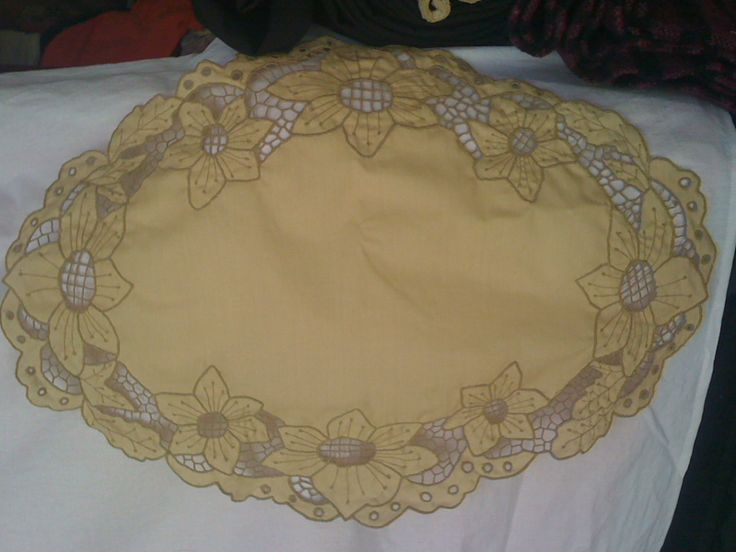 Embroideries and knitting