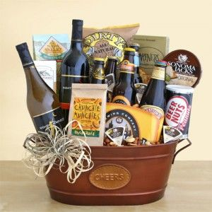 California Party Time Wine and Beer Gift Basket. Sender and recipient will receive NakedWines $50 gift card with purchase.