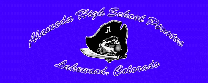 Alameda High School Pirates in Lakewood, Colorado Rear Window Graphic Mural