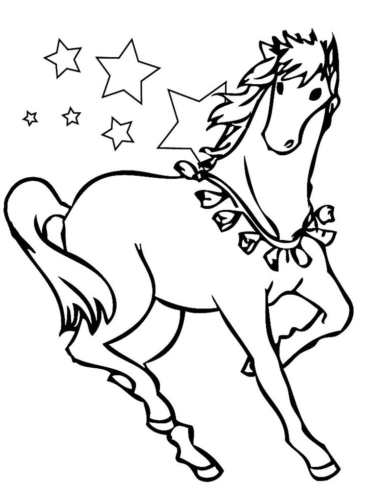 Dibujo de caballos para colorear