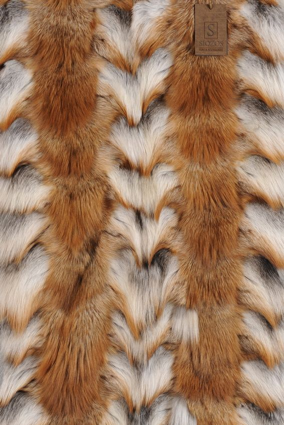 Panel of Fox Gross Head Patchwork Natural 80 x 60 cm.