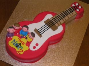 The Wiggles guitar cake