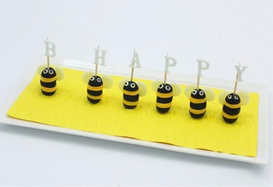 Cheese and Olive Bees from'Oh, What a Treat!'