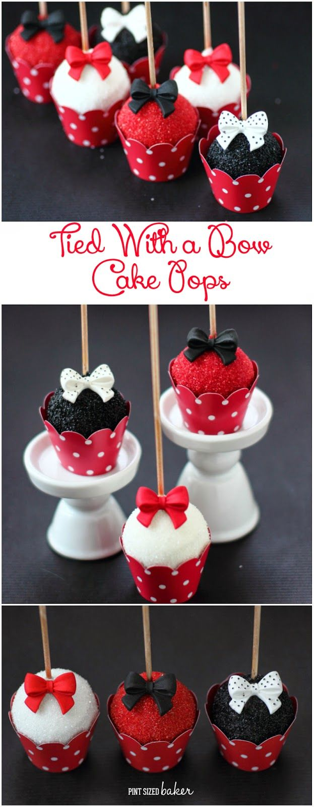 Perfectly poised cake pops! Easy to make and beautifully stunning! Get the tutorial and supplies from Pint Sized Baker