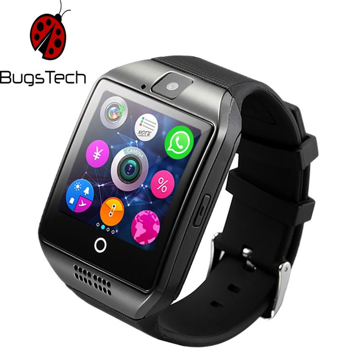 BugsTech Q18 Smart Watch with Sim&TF Card Slot Push Message Camera Bluetooth Connectivity Android Phone better than DZ09 A1 GT08  Price: 30.99 & FREE Shipping  #hashtag3
