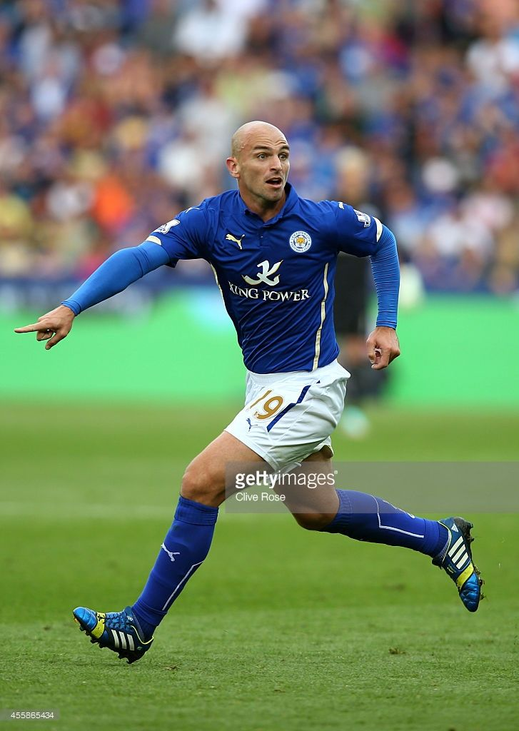 Esteban Cambiasso of Leicester City in action during the Barclays... News Photo   Getty Images