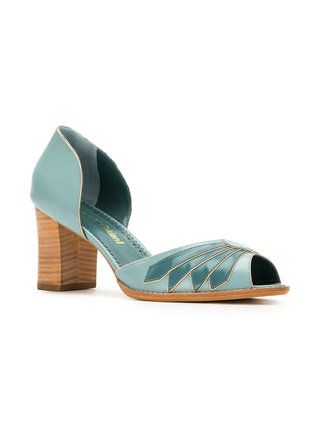 Sarah Chofakian peep toe pumps