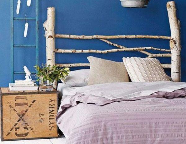kopfteil diy aus birkenholz bastelideen pinterest selbermachen und selber machen. Black Bedroom Furniture Sets. Home Design Ideas