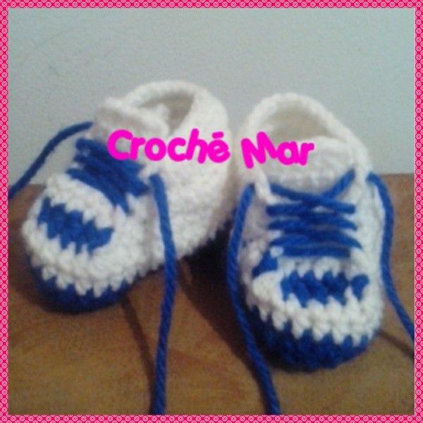 Tenis tejidos de bebe por Croche Mar