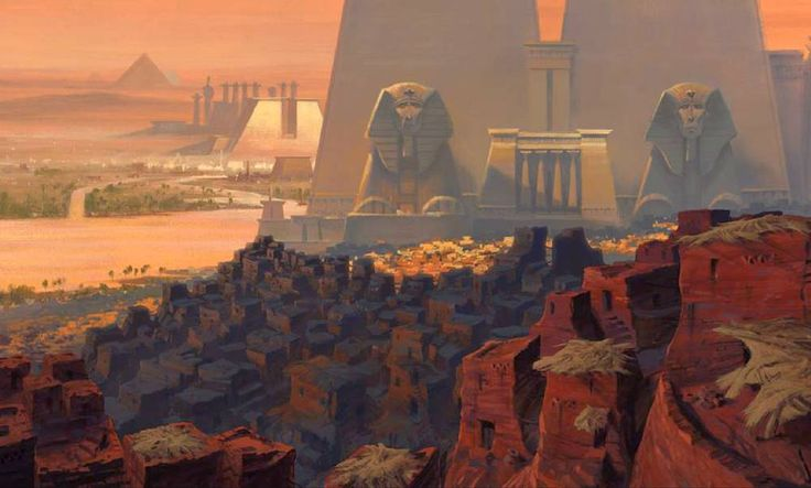 The Prince of Egypt: 100 Original Concept Art Collection - Daily Art, Movie Art