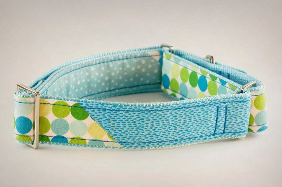 Martingale Dog Collar Blue and Green Dog Collar by PuppyRiot