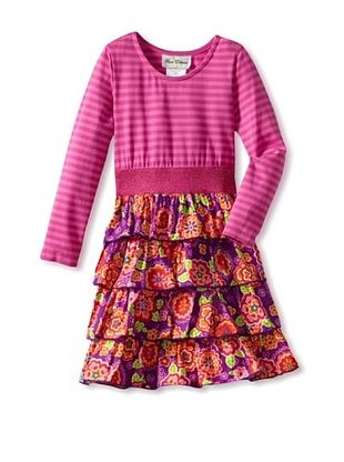 67% OFF Rare Editions Girl's 2-6X Print Tiered Dress (Magenta)