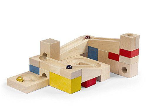 VARIS Wooden Marble Run Early Learning Construction Toys for Kids European Made Puzzle Blocks * Click the VISIT button to enter the Amazon website