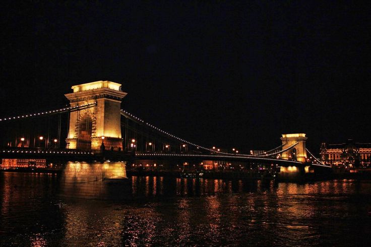 Budapest The Széchenyi Chain Bridge is a suspension bridge that spans the River Danube between Buda and Pest