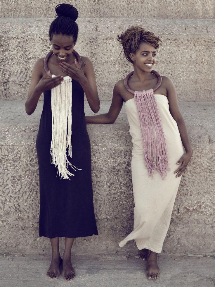 "Necklace | Namariette Designs.  ""The Soul Pendant"".  100% silk and Purpleheart wood."