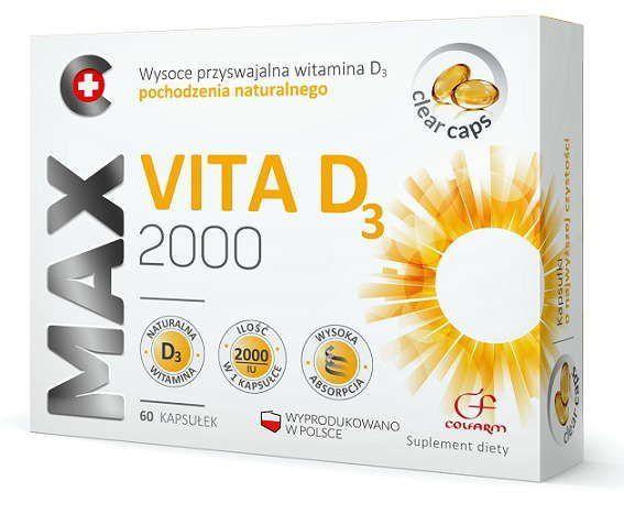 Max Vita D3 2000 x 60 capsules