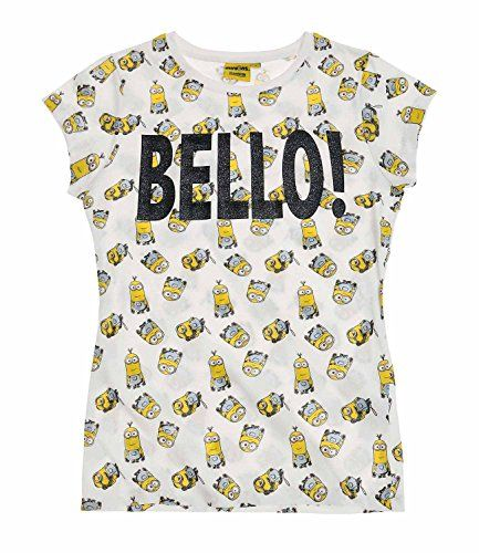 Minions Despicable Me Mujeres Camiseta de manga corta 2016 Collection - Blanco #camiseta #friki #moda #regalo