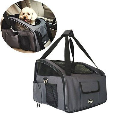 T Tocas Waterproof Car Seat Small Cats Dogs Puppy Travel Cage, Portable Lookout