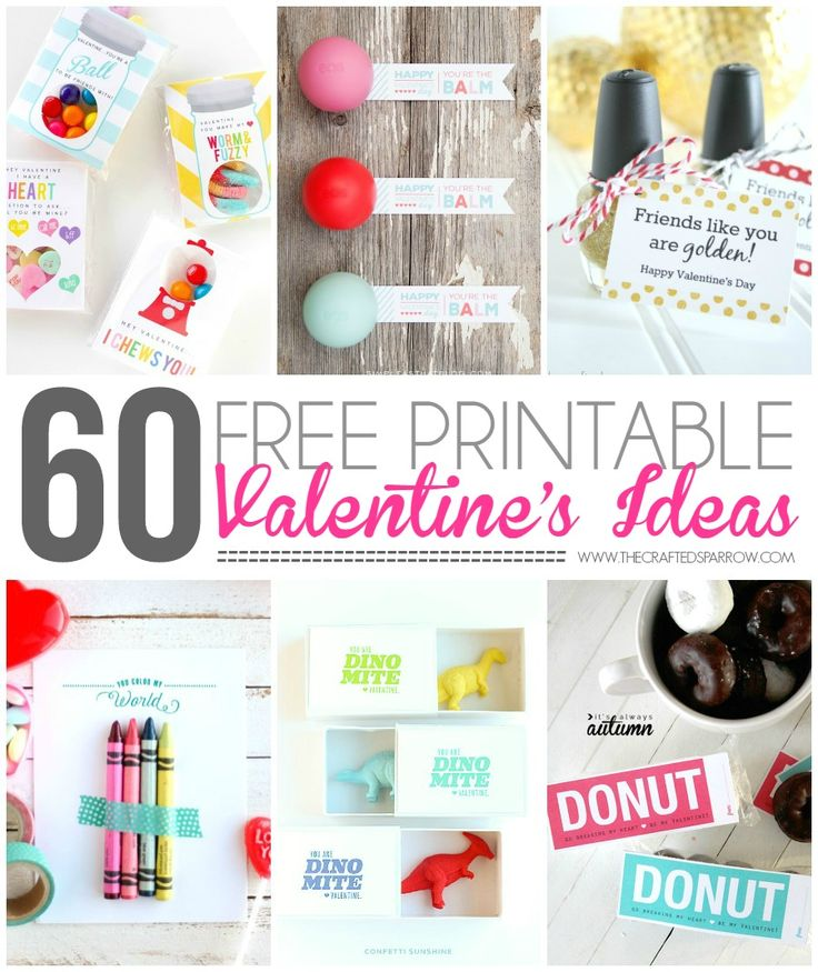 Choose from over 60 Free Printable Valentine's Ideas. Perfect for classmate or friend gifts for the kids. So many great designs and ideas to choose from.