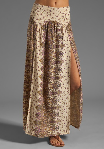 TALLOW Mystere Maxi Skirt in Paisley, I could make one of these!!!!