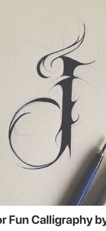 Letter J Tattoo : letter, tattoo, Antonio, Jairo, Monograma, Letter, Tattoo,