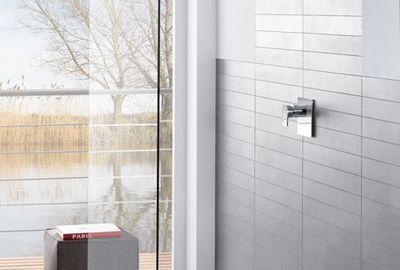 Une douche à receveur extra plat MetalRim