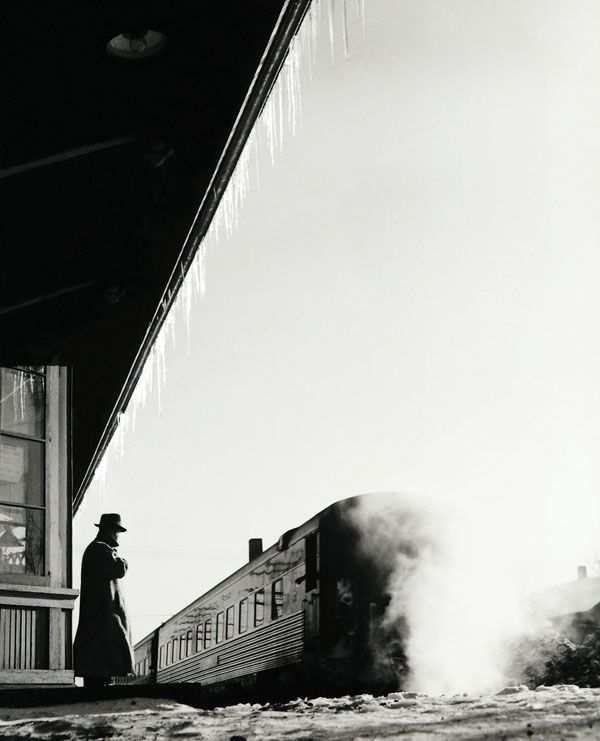Station man, Painesville, Ohio by Sam Abell, 1959