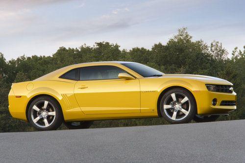 2010 Chevrolet Camaro coupe yellow