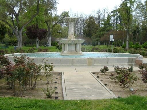 Rose Garden Fountain in Merced California