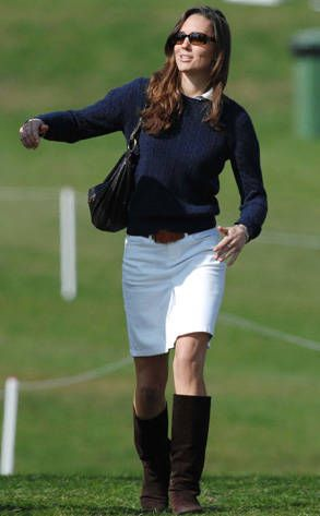 Shown here attending the badminton horse trials during her 2007 breakup (sadface) with Wills, Kate herself has always excelled in sports, including field hockey, crew, tennis and swimming.