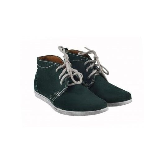 Pánske kožené topánky zelené PT006 - manozo.hu