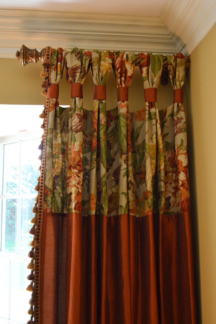 Gathered curtains - Gathered Tap Top Drapes For Dining Room Custom Drapes By Lynn Chalk