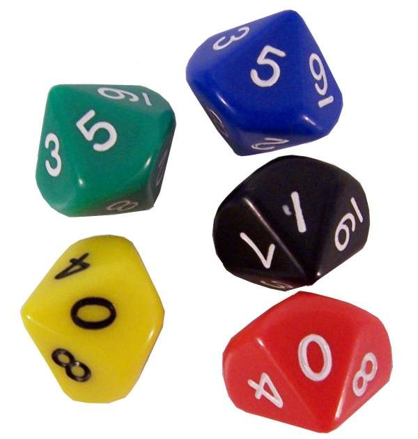 Use 2-decahedron die to play this game. Player 1 rolls the two die and adds     the numbers together. Player 1 places an X over the ...