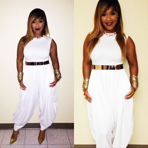 Erica Campbell Stuns in White and Gold