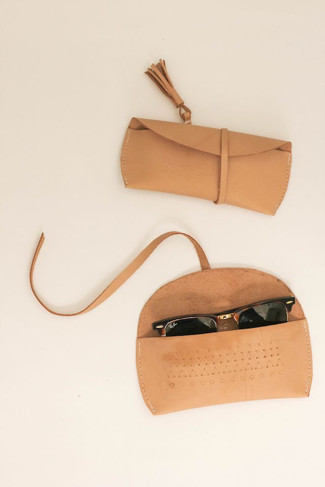 DIY Leather Sunglasses Case | @courtney_weston
