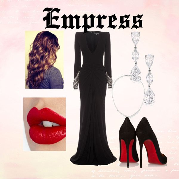 Empress by demy14love on Polyvore featuring polyvore fashion style Alexander McQueen Christian Louboutin Stephen Webster Charlotte Tilbury