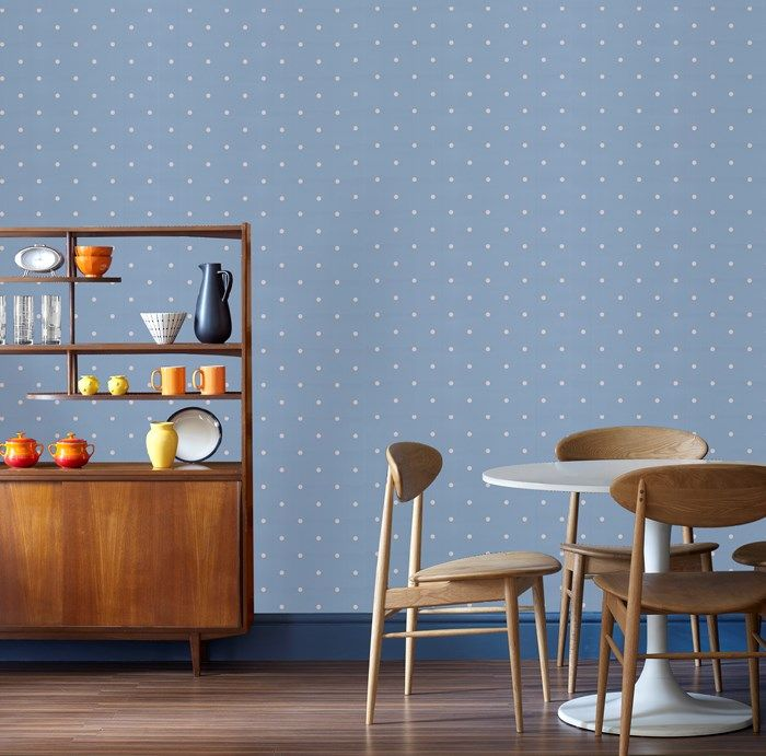 Dotty Pastels Blue Wallpaper by Graham and Brown