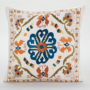 VIEW LARGER        alternate product view      alternate product view    Calcutta Embroidered Toss Pillow  SKU #451361    $26.99: Marketing Pillows, Calcutta Pillows, Toss Pillows, Rugs Worldmarket, Lumbar Pillows, Embroidered Pillows, Decor Pillows, Throw Pillows, Colors Patterns Texture