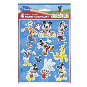 Mickey's Clubhouse Stickers (4 sheets/pkg)